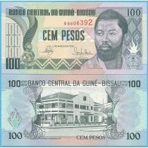 Гвинея-Бисау 100 песо 1990 год.