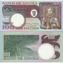 Ангола 100 эскудо 1973 г.
