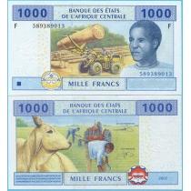 Центральная Африка 1000 франков 2002 год. F