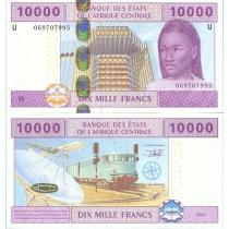 Центральная Африка 10000 франков 2002 г. Камерун