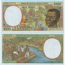Центральная Африка 1000 франков 2000 г. Чад