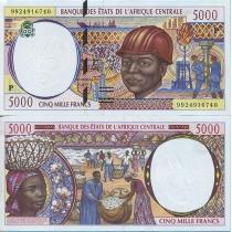 Центральная Африка 5000 франков 1999 г. Чад