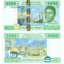 Центральная Африка 5000 франков 2002 г. Камерун