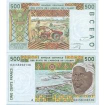 Западная Африка 500 франков 2002 г. А