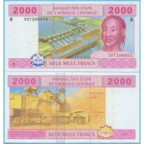Центральная Африка 2000 франков 2002 год. Габон