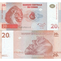 Конго 20 франков 1997 г.