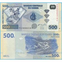 Конго 500 франков 2002 год.