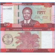 Либерия 50 долларов 2016 год.