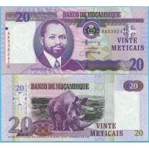 Мозамбик 20 метикал 2006 год.