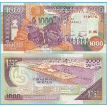 Сомали 1000 шиллингов 1996 год.