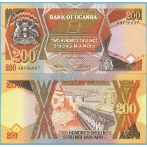 Уганда 200 шиллингов 1987 год.