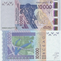 Западная Африка 10 000 франков 2003 г. Сенегал