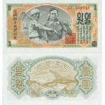 Северная Корея 1 вона 1947 год.