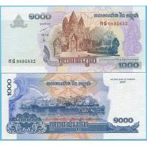 Камбоджа 1000 риелей 2007 год.