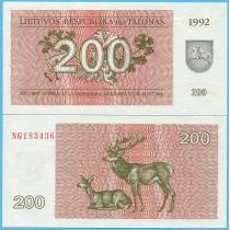 Литва бона 200 талонов 1992 год.
