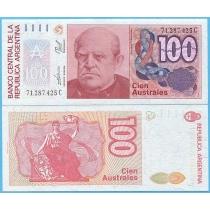 Аргентина 100 аустрал 1990 год.