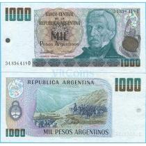 Аргентина 1000 песо аргентино 1984 год.
