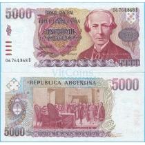 Аргентина 5000 песо аргентино 1985 год.