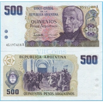 Аргентина 500 песо аргентино 1984 г.