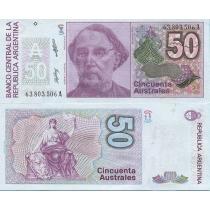 Аргентина 50 аустрал 1989 год.