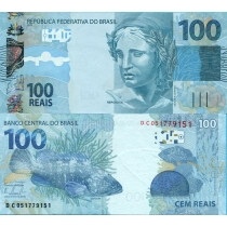 Бразилия 100 реал 2010 г.