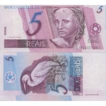 Бразилия 5 реал 1997-2011 г.