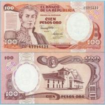 Колумбия 100 песо 1991 г.