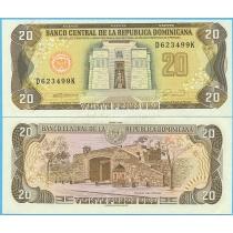 Доминикана 20 песо 1990 год.