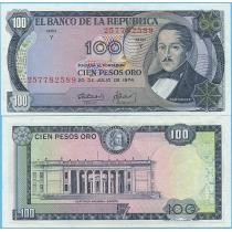 Колумбия 100 песо 1974 год.