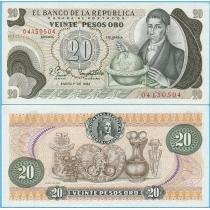 Колумбия 20 песо 1982 год