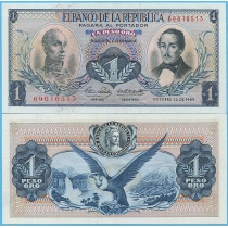 Колумбия 1 песо 1963 год.