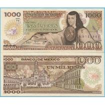 Мексика 1000 песо 1985 год.