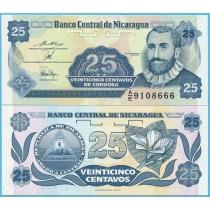 Никарагуа 25 сентаво 1991 год.