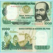 Перу 1000 солей 1981 год.