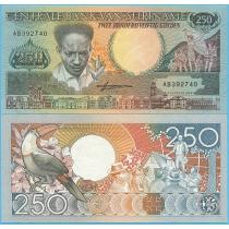 Суринам 250 гульденов 1988 год.