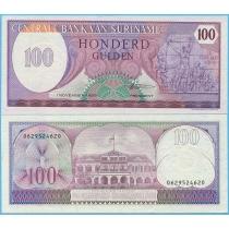 Суринам 100 гульденов 1985 г.