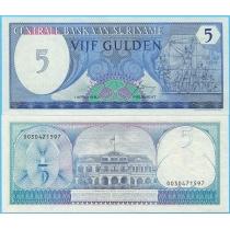 Суринам 5 гульденов 1982 год.