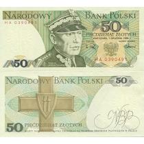 Польша 50 злотых 1988 г.
