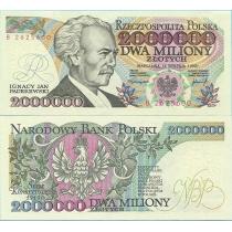Польша 2 000 000 злотых 1992 г. Серия В
