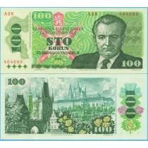 Чехословакия 100 крон 1989 г.