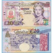 Гибралтар 20 фунтов 2004 год