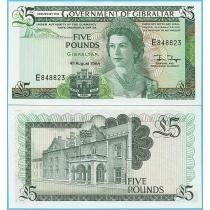 Гибралтар 5 фунтов 1988 год.
