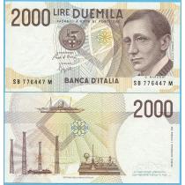 Италия 2000 лир 1990 год.