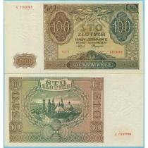 Польша 100 злотых 1941 год.