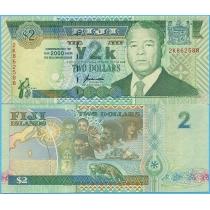 Фиджи 2 доллара 2000 год. Миллениум.