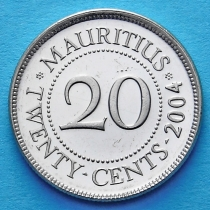 Маврикий 20 центов 1987-2012 год.