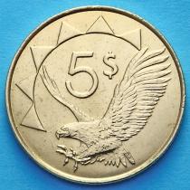 Намибия 5 долларов 2012 год. Орлан белохвост.