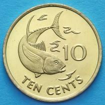 Сейшельские о-ва 10 центов 2007-2012 год