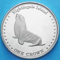 Тристан да Кунья 1 крона 2011 год. Морской лев