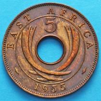 Британская Восточная Африка 5 центов 1955 год. Н